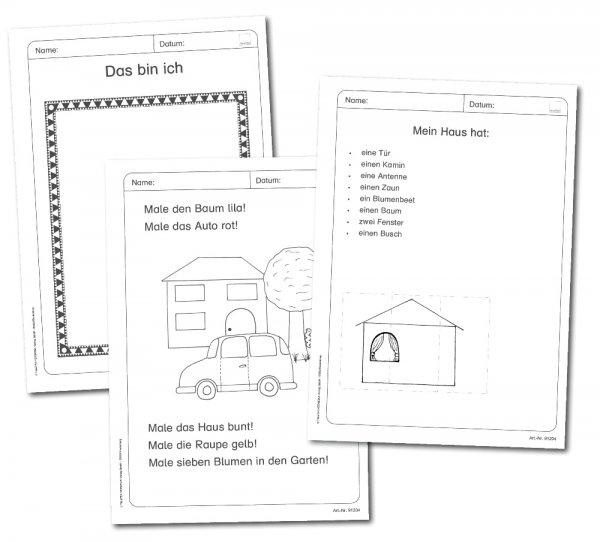 Lese-Mal-Heft Kopiervorlagen A4