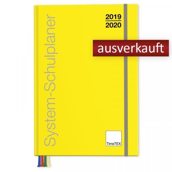 TimeTEX System-Schulplaner A6-Plus, gelb 2019/2020