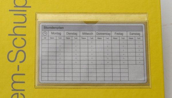 Stundenplan-Klebetasche m. 5 Stundenplänen