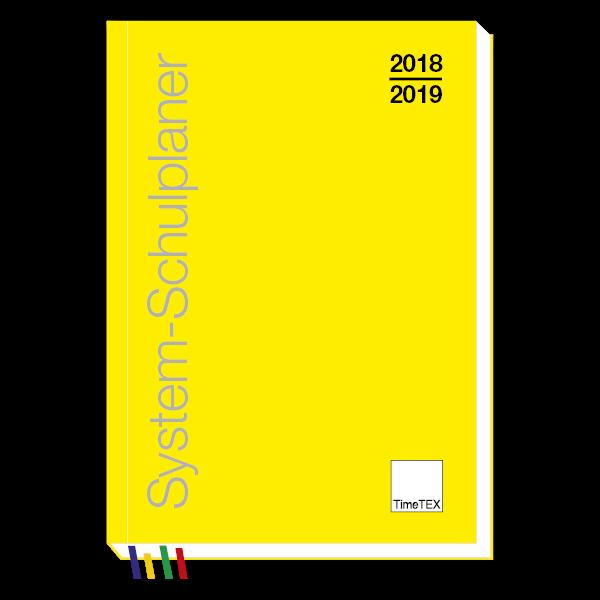 TimeTEX System-Schulplaner A6-Plus, gelb 2018/2019