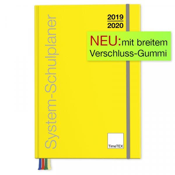 TimeTEX System-Schulplaner A4-Plus, gelb, 2019/2020