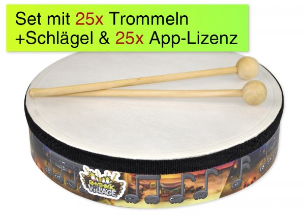 Trommel-Kiste, 25 Handtrommeln, 25 App-Lizenzen