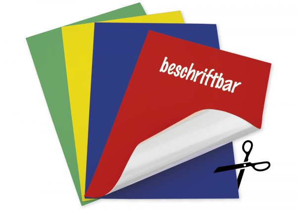 Set Magnet-Folie Bi-Color blanko A4, 4-tlg.