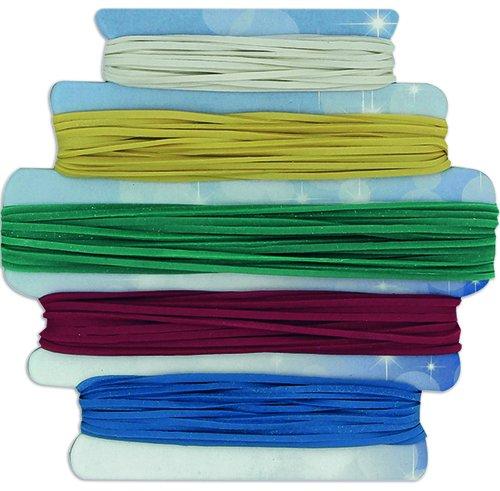 Gummi-Ringe, farbig, ca. 95 Stück