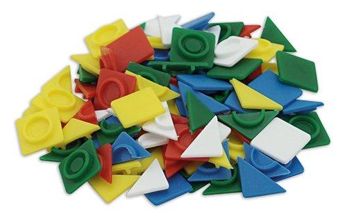 Set Steckplättchen 1,7 cm, farbig sortiert, 500 Stk. im Beutel