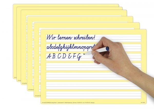 Set Prima-Colori Schreibübungs-Whiteboard A4, 6 Stück