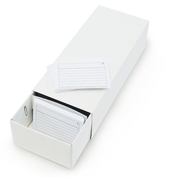 Lernkartei-Kasten A8 Pappe mit 100 Lernkärtchen