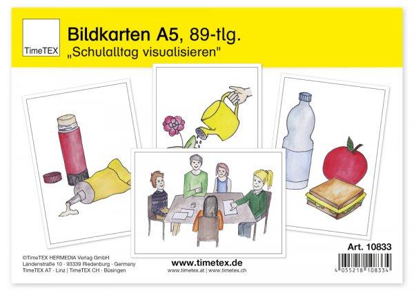 """TimeTEX Bildkarten """"Schulalltag visualisieren"""", 89-tlg."""