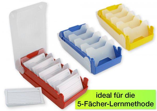 Lernbox A8 Kunststoff mit 100 Lernkärtchen