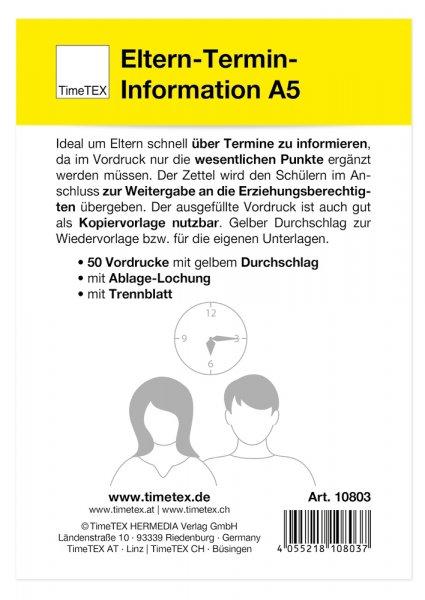 Block Eltern-Termin-Information A5, 50 Blatt mit Durchschlag