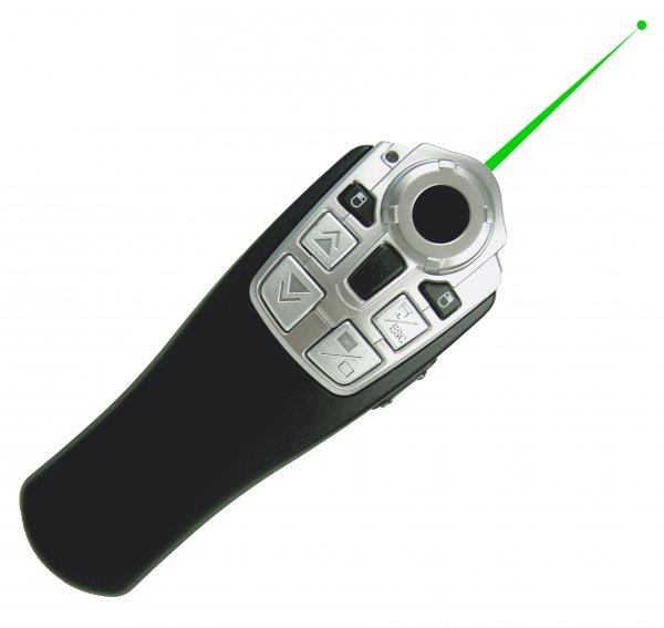 """TimeTEX Laser-Pointer """"grün"""" mit Funk-Maus"""