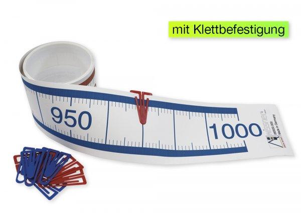 Demo-Zahlenstrahl-Rechenband mit Klettpunkten, 5 m, 1-1.000