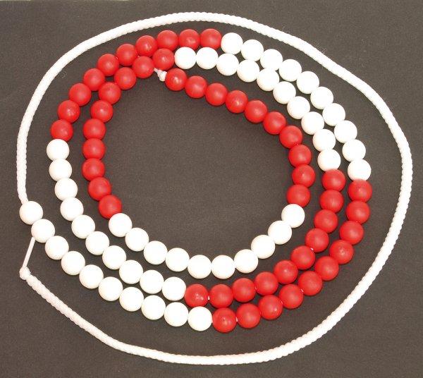 Rechenkette bis 100, rot/weiß