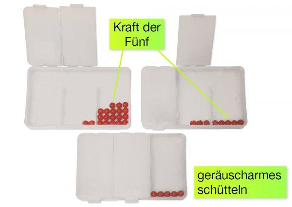 Flüster-Schüttelbox 3-tlg., mit 20 Perlen