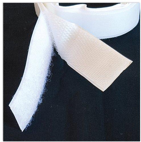 TimeTEX-Klettband selbstklebend, weiß, 50 cm