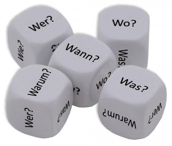 """Würfel-Set Deutsch """"Fragewörter"""" 5-tlg., 16 mm"""