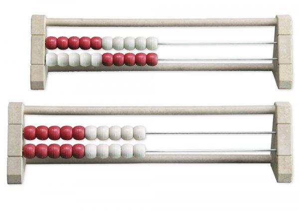 Rechenrahmen für 20-er Zahlenraum rot/weiß