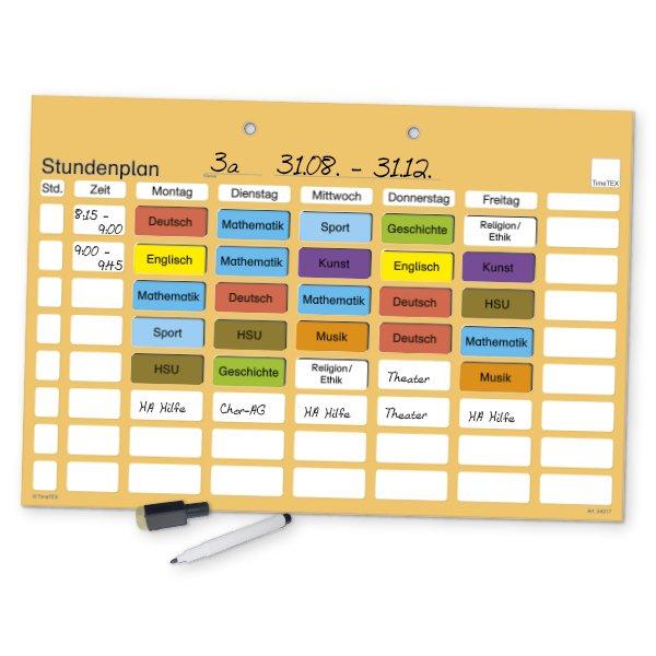 TimeTEX Stundenplan-Tafel magnetisch, ca. 41 x 28 cm