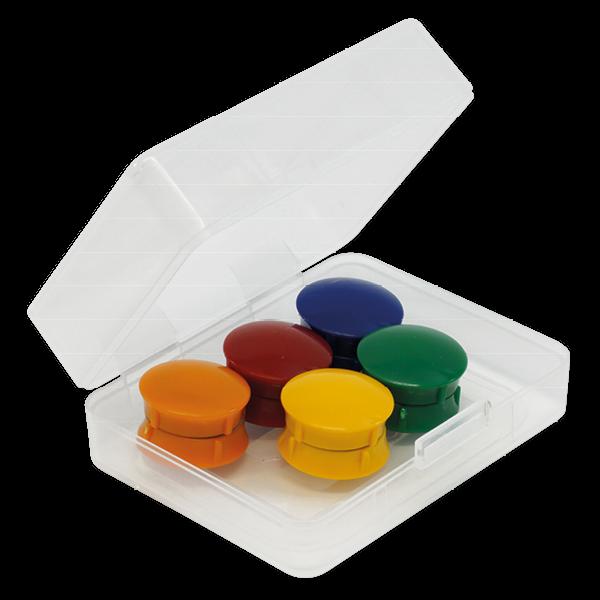 Set Haft-Magnete 21 mm ø in Box, 10-tlg.