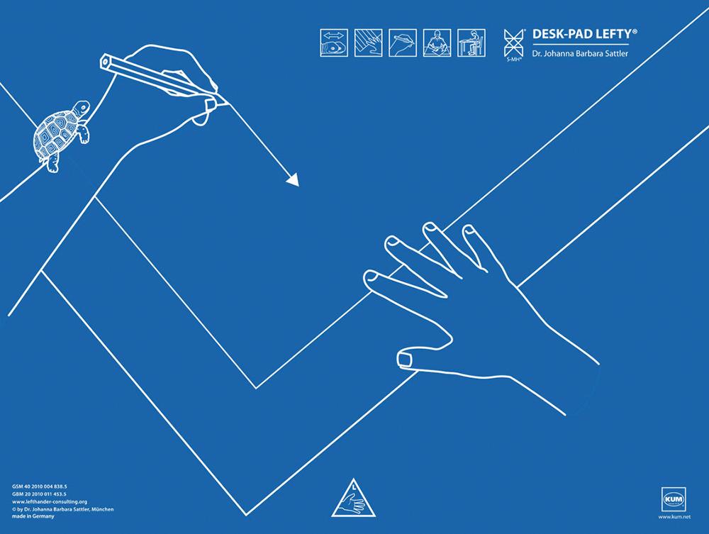 Schreibunterlage für Linkshänder, 53 x 40 cm | TimeTEX DE