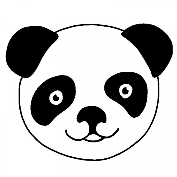 "Siebdruck-Stempel ""Perpetuum"", ""Panda"""