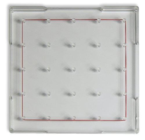 Geometrie-Brett einseitig (5x5 Stifte), 15x15 cm, transparent