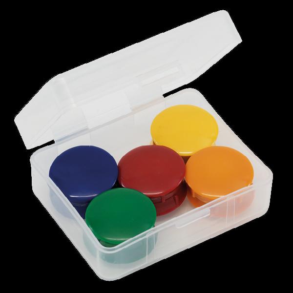 Set Haft-Magnete 27 mm ø in Box, 10-tlg.