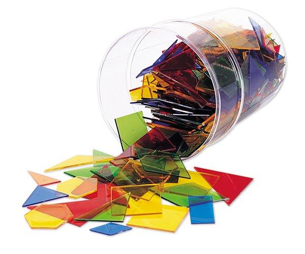 Geometrie-Flächensatz aus Acrylglas, 450-tlg. in Box