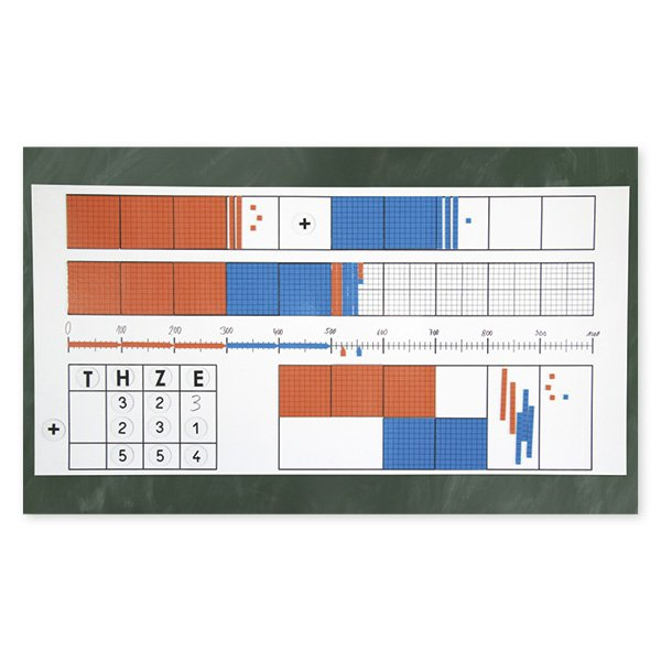 Dienes Demo-Dezimal-Rechenfeld 1.000, magnetisch, 126-tlg.