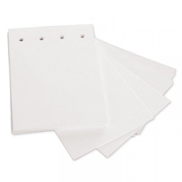 Blankokarten gelocht, weiß, 100 Stück