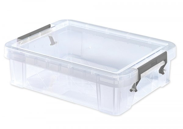 Kunststoff-Box stapelbar, transparent, 2,3 Liter (A5)