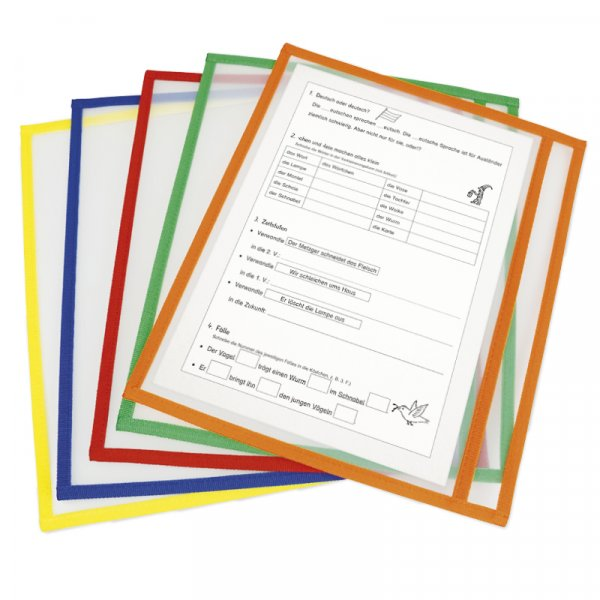 Lern- und Sammeltaschen A4-Plus quer, mit Farbeinfassung, 10-tlg.