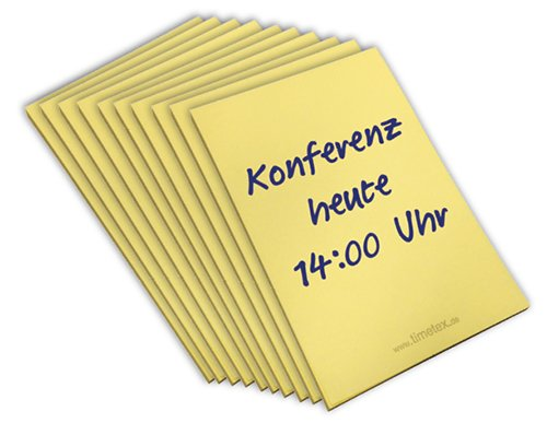 Set Haftnotiz-Block gelb, je 50 Blatt, 10 Block