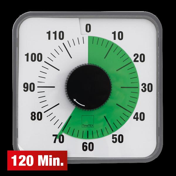 """TimeTEX Zeitdauer-Uhr """"Automatik"""" 120 Minuten, magnetisch, 19x19 cm"""