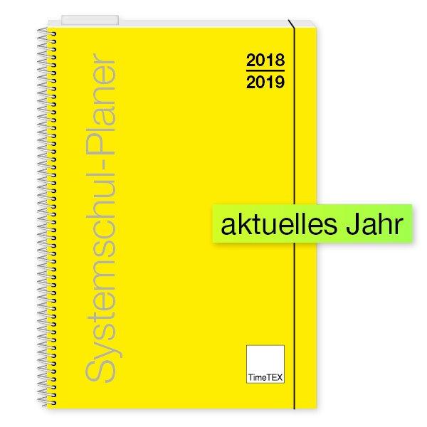 TimeTEX System-Schulplaner Ringbindung A4, gelb, 2018/2019
