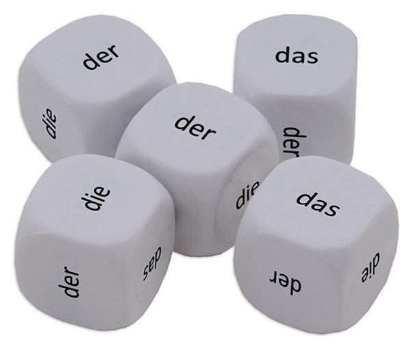 "Würfel-Set Deutsch ""Artikel"" 5-tlg., 16 mm"