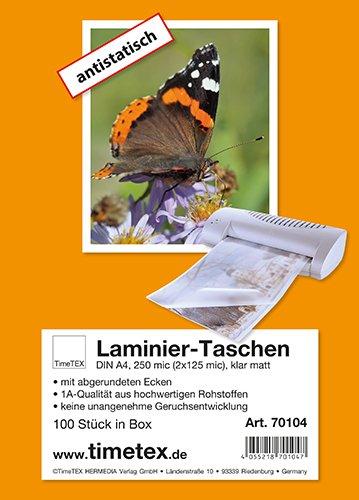Laminier-Taschen A4 2x125 mic matt, 100 Stück