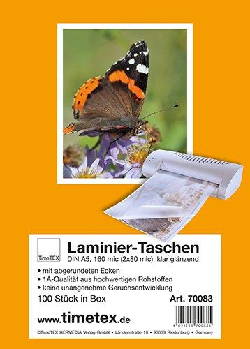 Laminier-Taschen A5 2x80 mic glänzend, 100 Stück