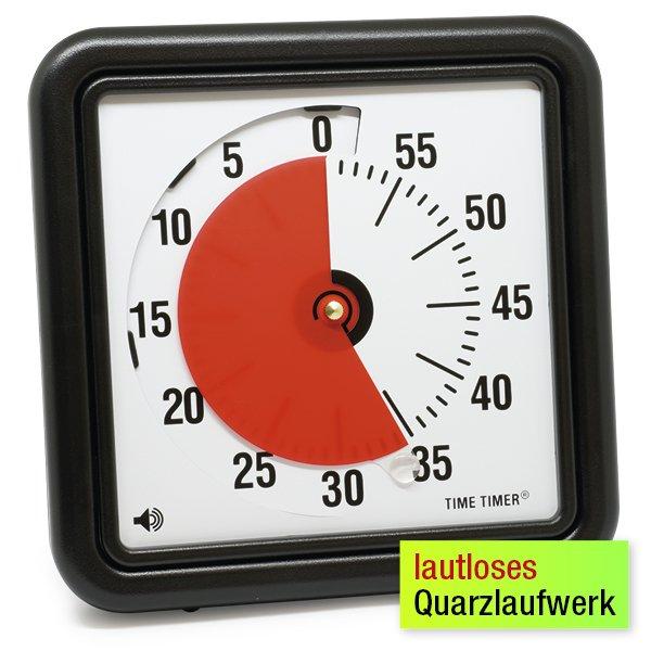 Zeitdauer-Uhr m. Ablauf-Signal 18x18 cm, klein