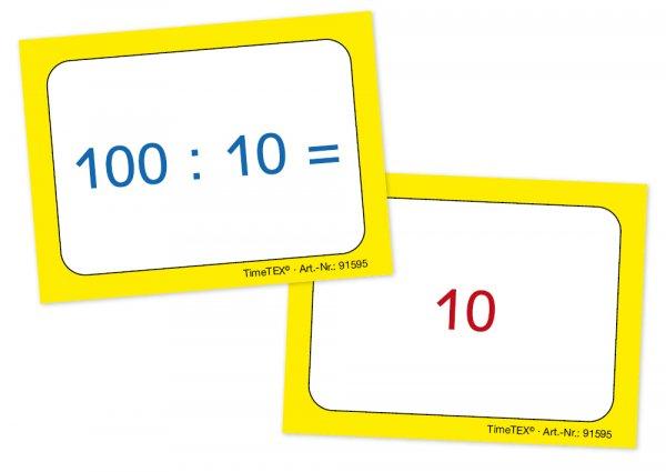 Kartenspiel für Papp-Computer, Division