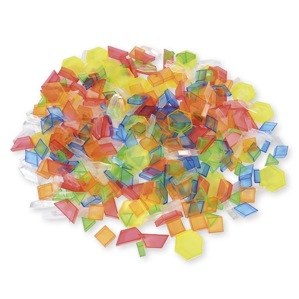 Set Geometrische Figuren transparent, farbig, 360-tlg. in Box
