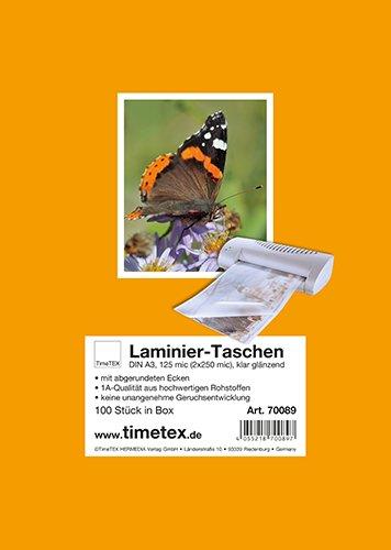 Laminier-Taschen A3 2x125 mic glänzend, 100 Stück