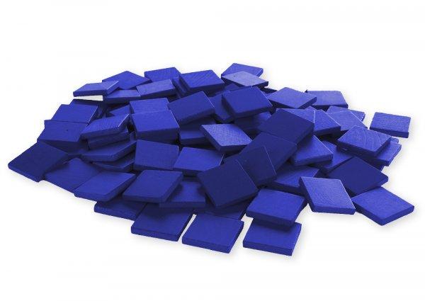 Holz-Chips 100 Stück, blau