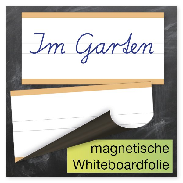 TimeTEX Whiteboard-Demo-Schreibzeile 2-geteilt, magnetisch, 2-tlg.
