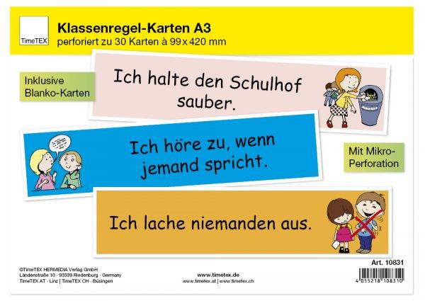 TimeTEX Klassenregel-Karten, 30-tlg.