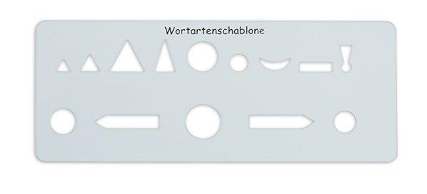 Wortartenschablone, ca. 175 x 70 mm, 1 mm Stärke