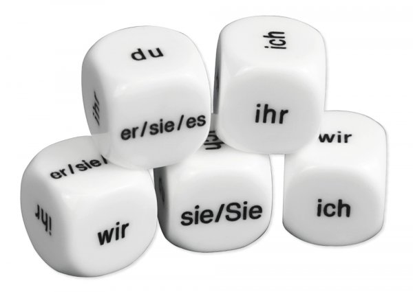 "Würfel-Set Deutsch ""Personalpronomen"" 5-tlg., 16 mm"