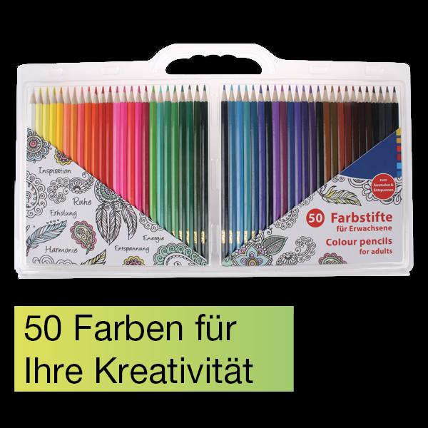 Farbstifte für Erwachsene 50-tlg.