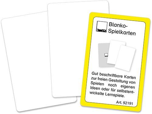Blanko-Spielkarten im Etui, beidseitig weiß