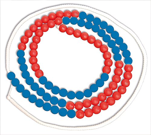 Rechenkette bis 100, rot/blau, 10er Schritte